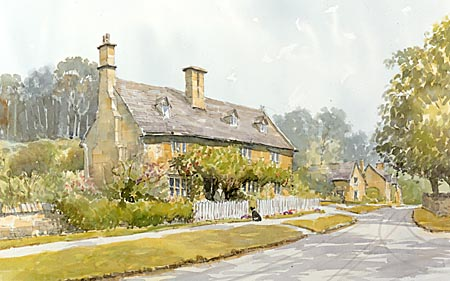 Buckland - a watercolour by John Davis©
