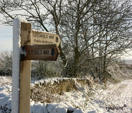 Cotswold Way in Snow - a photo by Terry J Morgan