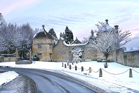 Jacobean Gate in Snow
